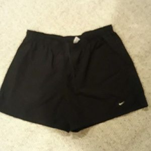 Nike athletic shorts.